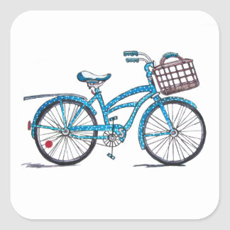 Poka Dot Beach Cruiser Sticker