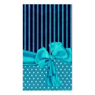 Poka Dots,Stripes,Ribbons & Bows Business Card