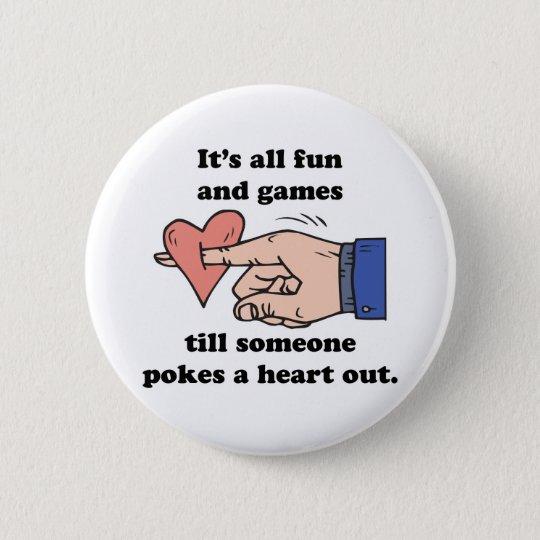 poke a heart out button