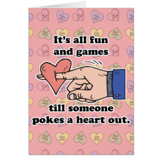 poke a heart out card