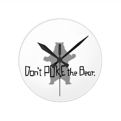 Poke Bear Round Wall Clocks