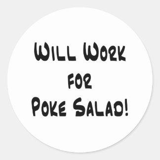 Poke Salad Classic Round Sticker