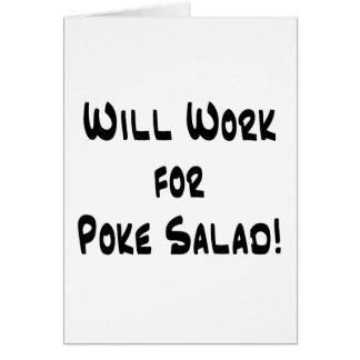 Poke Salad Greeting Card