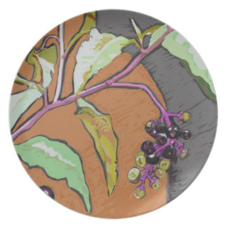 Poke Sallet Pokeberry along the Tobacco Trail Dinner Plates