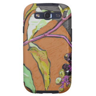 Poke Weed Native Plant Galaxy S3 Cases