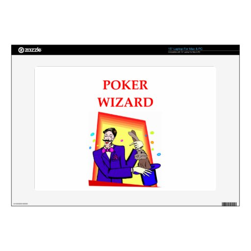 """poker 15"""" laptop decal"""