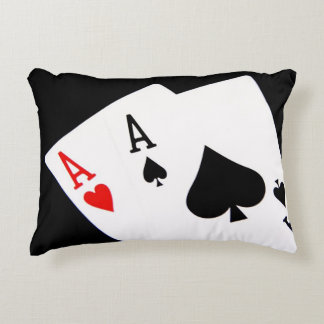 Poker Accent Pillow