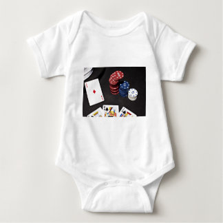 Poker ace bet good hand baby bodysuit