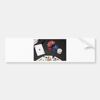 Poker ace bet good hand bumper sticker