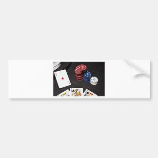 Poker ace bet good hand bumper sticker