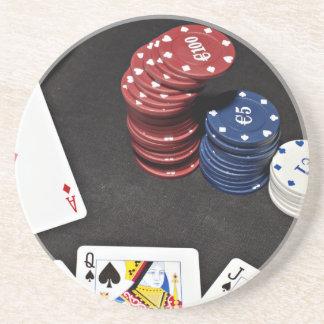 Poker ace bet good hand coaster