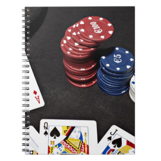 Poker ace bet good hand notebook