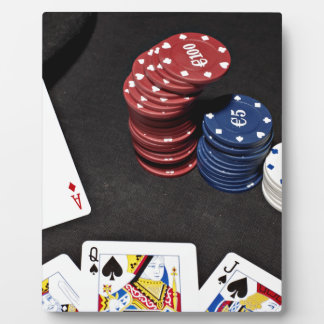 Poker ace bet good hand plaque