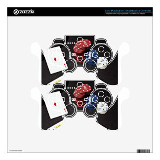 Poker ace bet good hand skin for PS3 controller