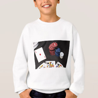 Poker ace bet good hand sweatshirt
