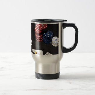 Poker ace bet good hand travel mug