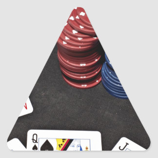 Poker ace bet good hand triangle sticker