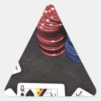 Poker ace bet good hand triangle sticker