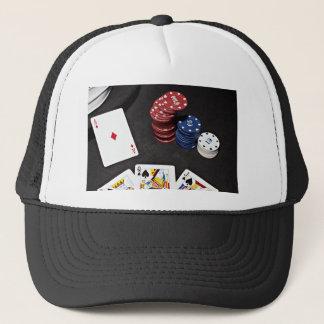 Poker ace bet good hand trucker hat