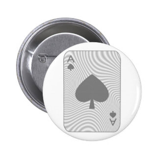 Poker Ace of Spades Button