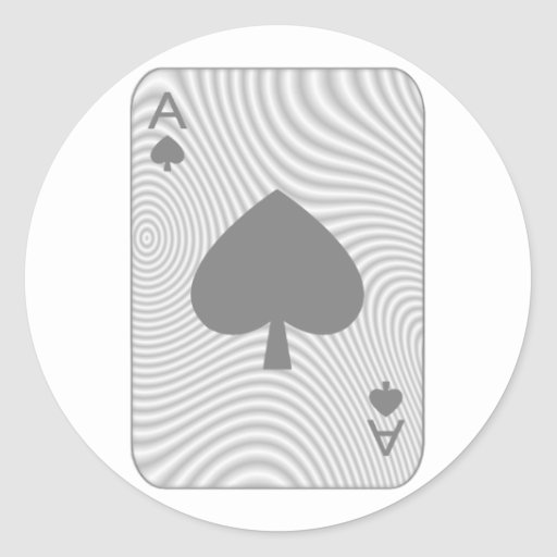 Poker Ace of Spades Classic Round Sticker