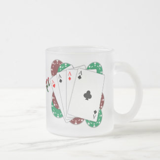 Poker Ace Playing Cards Frosted Mug