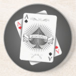 Poker Aces Drink Coaster