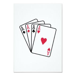 Poker aces gambling card