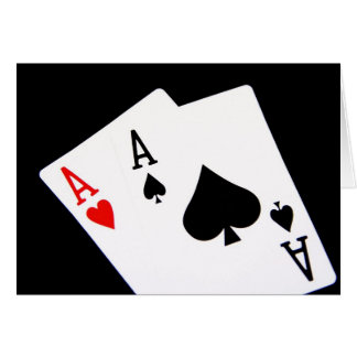 Poker Aces Greeting Cards