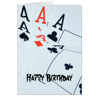 Poker_Aces,_Happy Bithday_Greeting_Card Card
