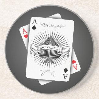 Poker Aces Sandstone Coaster