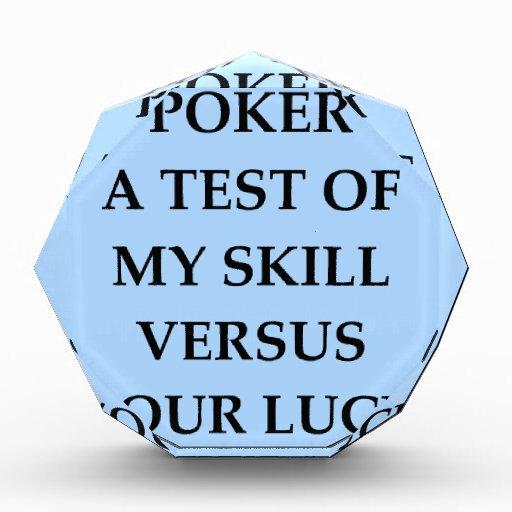 poker acrylic award