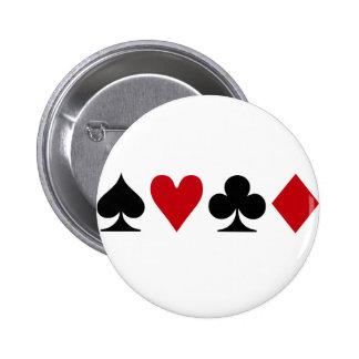 Poker Addict Pinback Button