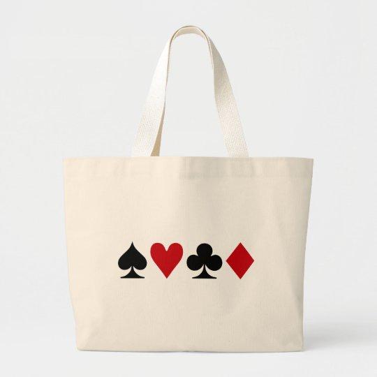 Poker Addict Large Tote Bag