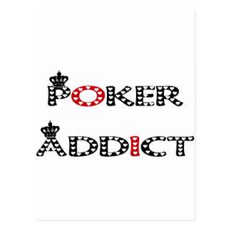 Poker Addict Postcard