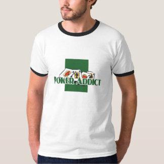 Poker Addict's ringer-t Tee Shirt