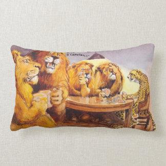 Poker advice lumbar pillow