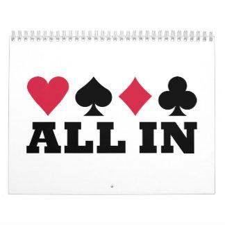 Poker all in calendar