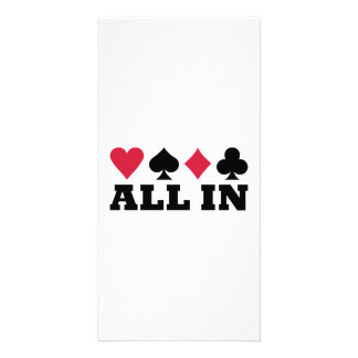 Poker all in photo card template