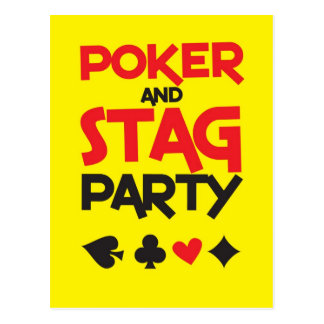 Poker and STAG party greeting card