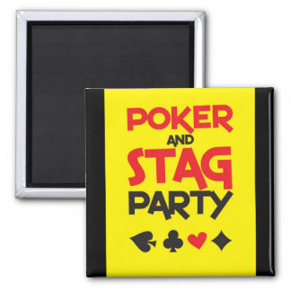 Poker and STAG party greeting card Refrigerator Magnets