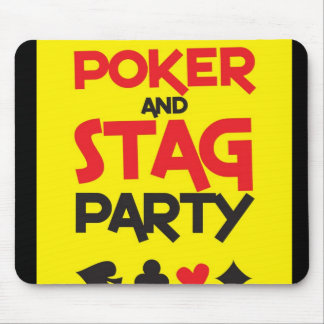 Poker and STAG party greeting card Mouse Pad