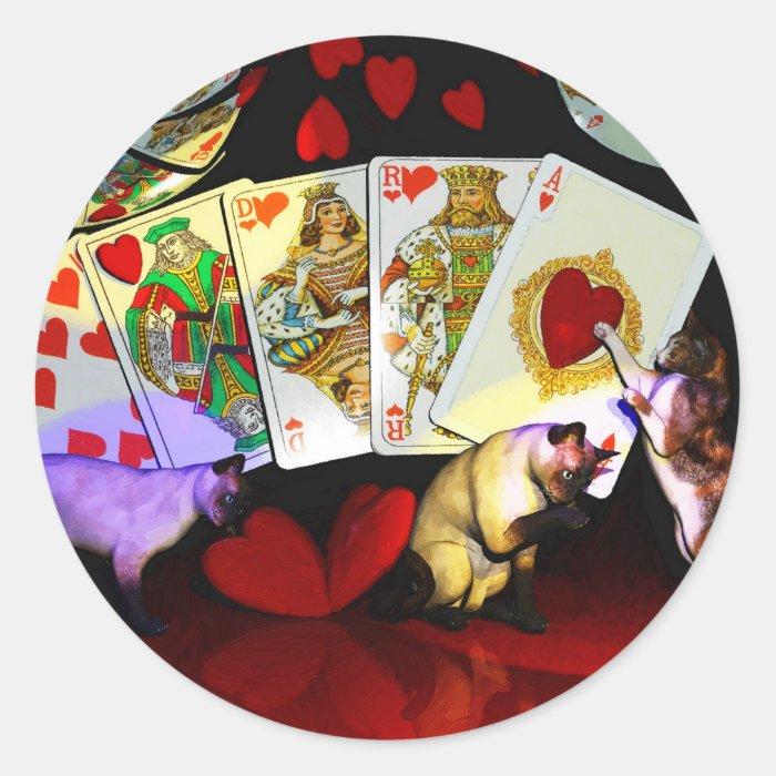 Poker Art Classic Round Sticker