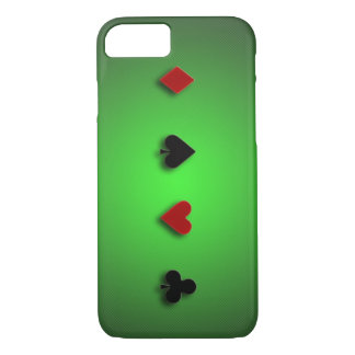 poker background casino cards clubs hearts spades iPhone 7 case