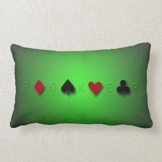 poker background casino cards clubs hearts spades lumbar pillow