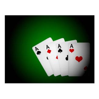 Poker Background Postcard
