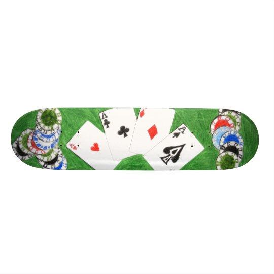 Poker board, by DJ Skateboard Deck