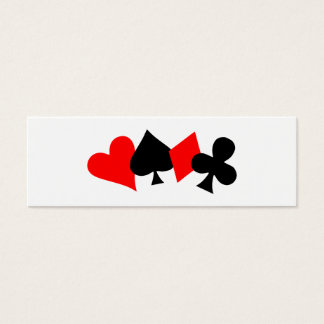 Poker bookmark business card