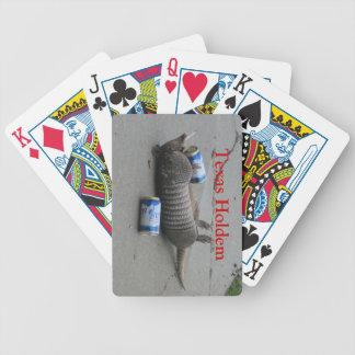 Póker borracho del armadillo cartas de juego