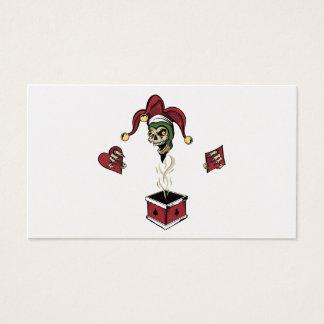 Poker Box Joker Zombie Skull Business Card